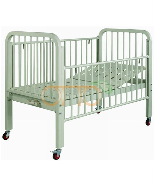 Powder coated steel baby bed