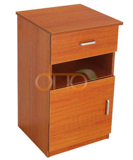 Wooden bedside locker